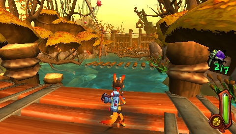 175439-daxter-psp-screenshot-lumber-in-water-in-lumber-mill-level